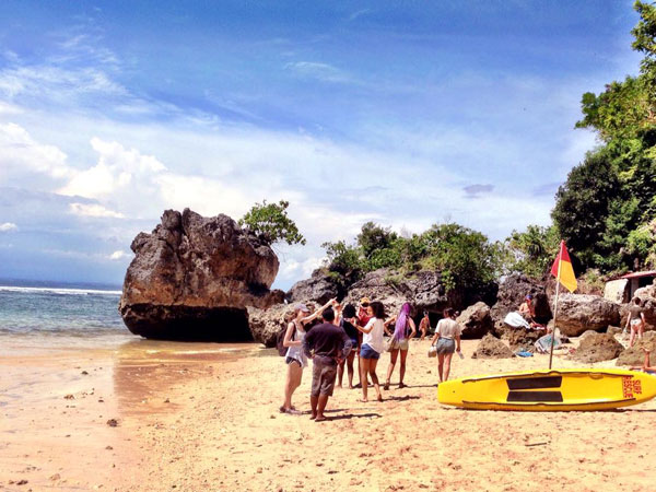 Padang-padang Beach, beautiful beach between beautiful rocks