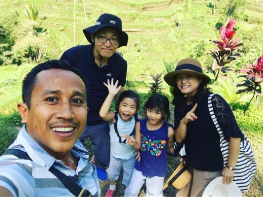Special Bali tour with Mrs. Mijung Joo from Korea and his family